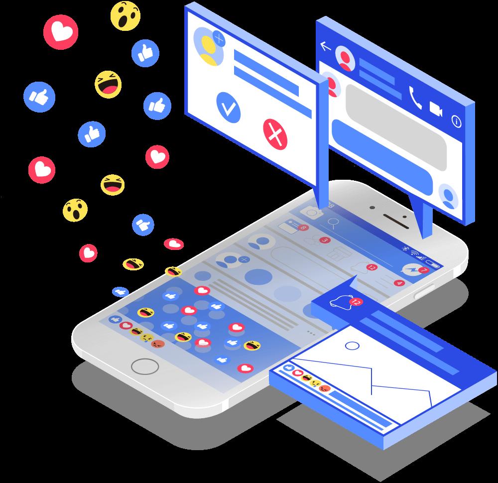 Facebook Ads services illustration