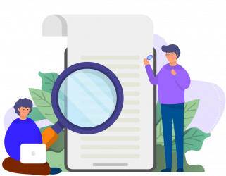 Competitor analysis and research illustration