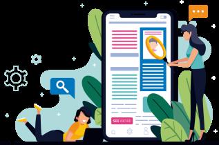 Mobile responsive web development illustration