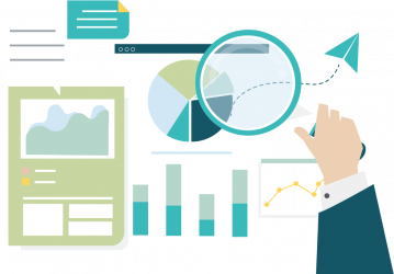 Reporting, analytics, and optimization illustration